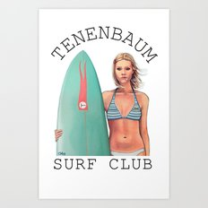 Tenenbaum Surf Club Art Print