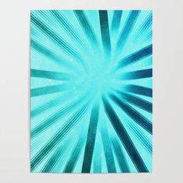 Intersecting-Aqua Poster