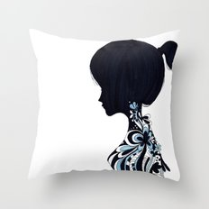 living lady Throw Pillow
