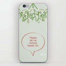 Under the mistletoe iPhone & iPod Skin
