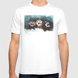 Three Sleepy Ferrets T-shirt
