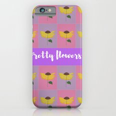 Yellow flower pattern on a pink and lilac background iPhone 6s Slim Case