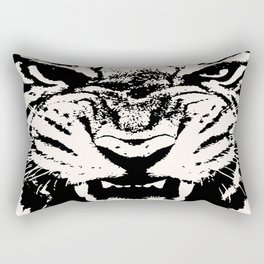 White Tiger Vector Rectangular Pillow