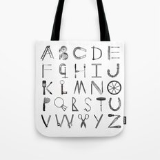 Object Alphabet Tote Bag