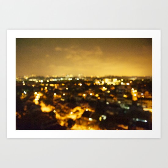but if the bright lights don't receive you Art Print