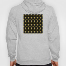 Dry Martini Gold and Black Art Deco Pattern Hoody