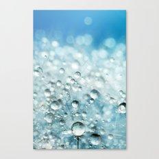 Powder Blue Drops Canvas Print