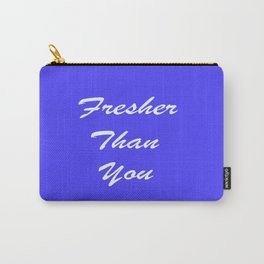 Fresher Thank You : Periwinkle Carry-All Pouch