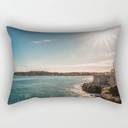 Seacoast of Antibes in a sunny winter day Rectangular Pillow