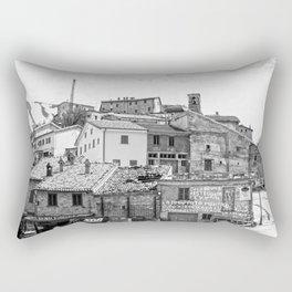 Italian mountain village Rectangular Pillow