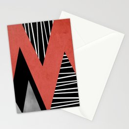 Triangles geometry Stationery Cards