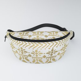 Norwegian Pattern – Gold on White Fanny Pack