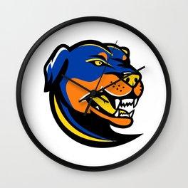 Rottweiler Dog Mascot Wall Clock
