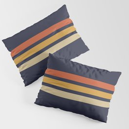 Vintage Retro Stripes Pillow Sham