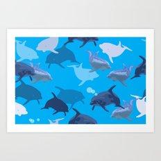 Aquaflage Art Print