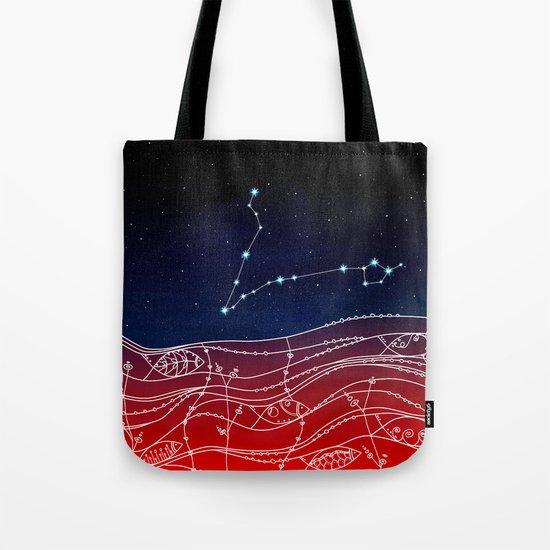 Pisces Constellation Design Tote Bag