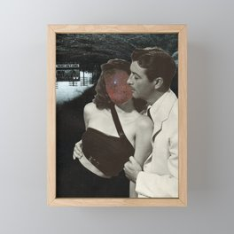 We're Out Here (Collage) Framed Mini Art Print