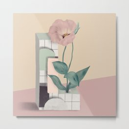 Vase L Lisianthus Metal Print