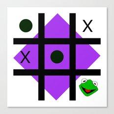 Kermit der frosch Canvas Print