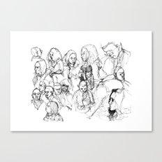 Transit People Canvas Print