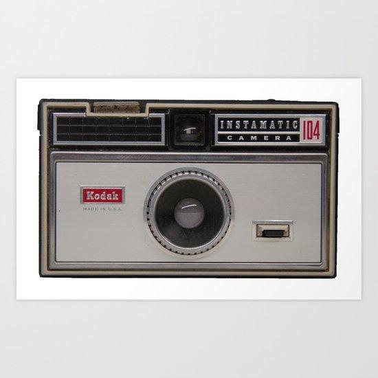 Instamatic Camera 3 Art Print