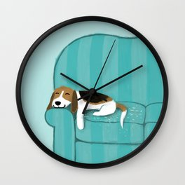 Happy Couch Beagle Wall Clock