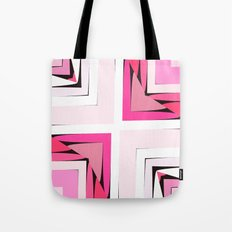 Pink Corners Tote Bag