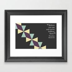 Oragami Traingles Framed Art Print