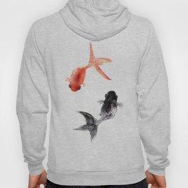 Two KOI , Feng Shui, Fish art, Hoody