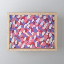 Pink and Purple Brushstrokes Art Framed Mini Art Print