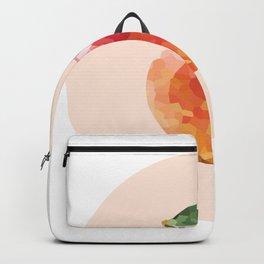 apple colorful geometric fruit circle | polygonal Backpack