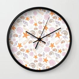 Seashell Print Wall Clock