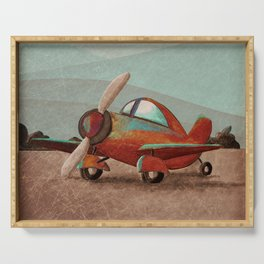Adventure Air - Little Red Plane Serving Tray
