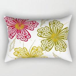 Geometric flowers Rectangular Pillow