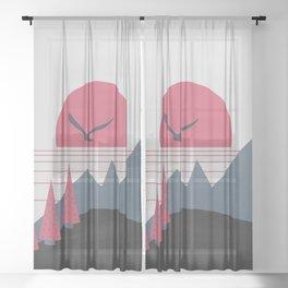 Minimal Sunset 16 Sheer Curtain