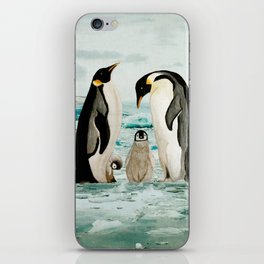 Emperor Penguin Family iPhone Skin