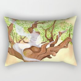The concentrated Lady of the Oak Rectangular Pillow
