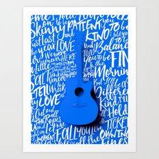 Lyrics & Type - Bon Iver - Skinny Love Art Print