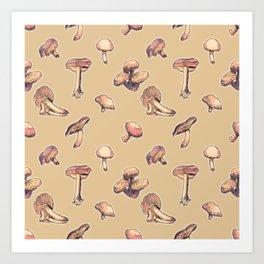Fungi pattern Art Print