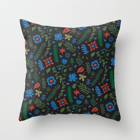 Herbal myst Throw Pillow