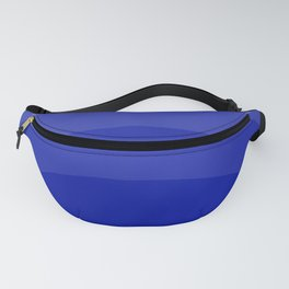 Four Shades of Blue Curved Fanny Pack