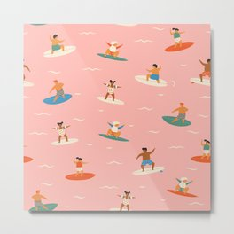 Surf kids Metal Print