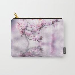 Zen Style Cherry Blossom and Water Carry-All Pouch