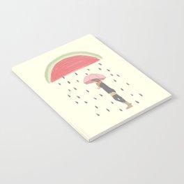 Raining Watermelon Seeds Notebook