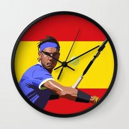 Rafael Nadal   Tennis Wall Clock