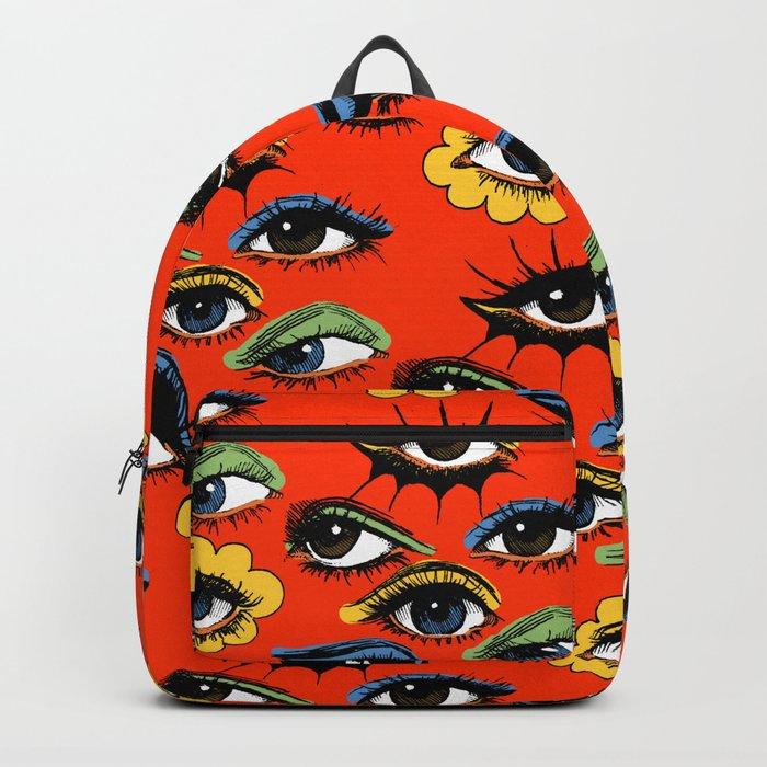 60s Eye Pattern Rucksack
