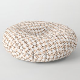 Houndstooth Fishnets and Skin Pattern Floor Pillow