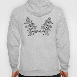 Ferns-Black and White Hoody