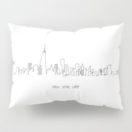 New York City Skyline Drawing Pillow Sham