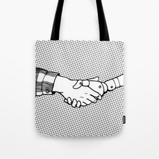 Man and Machine Tote Bag